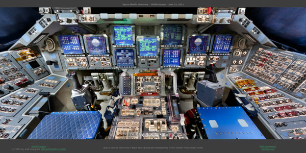 Spaceshuttle flight deck
